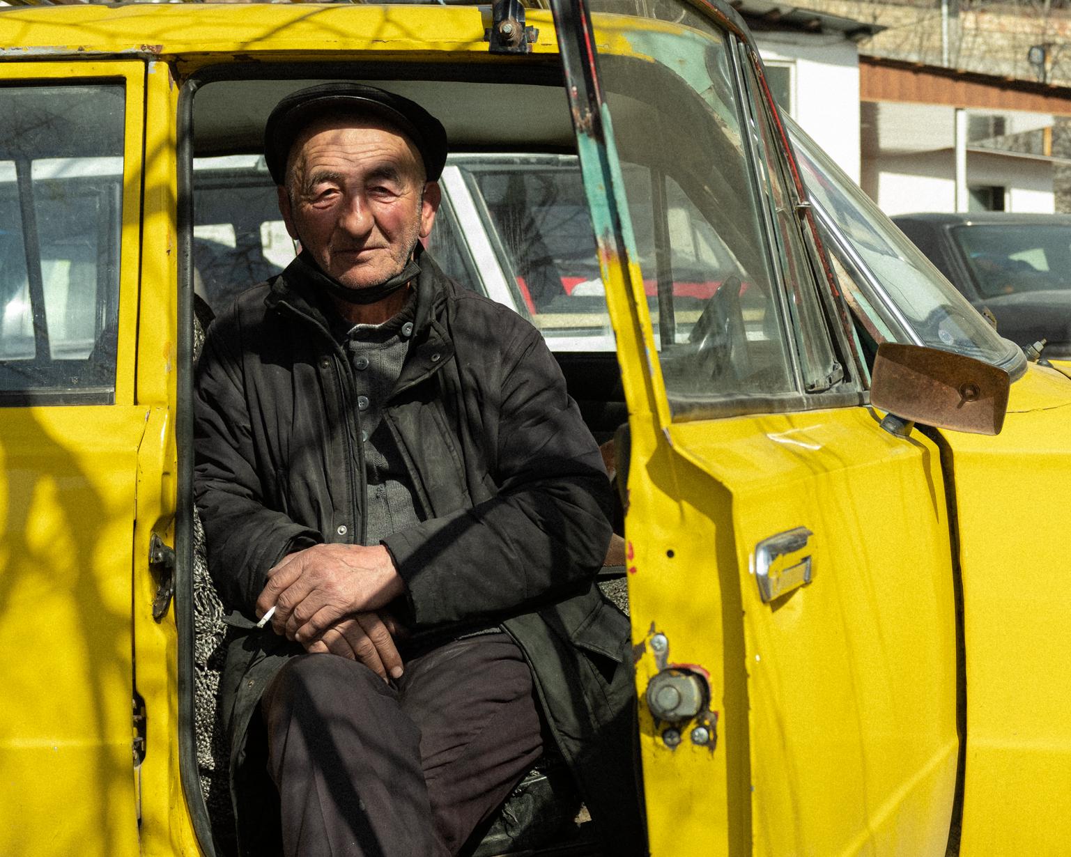 Rasim Orujov, 65, still works at the bazaar. Shaki, 2021