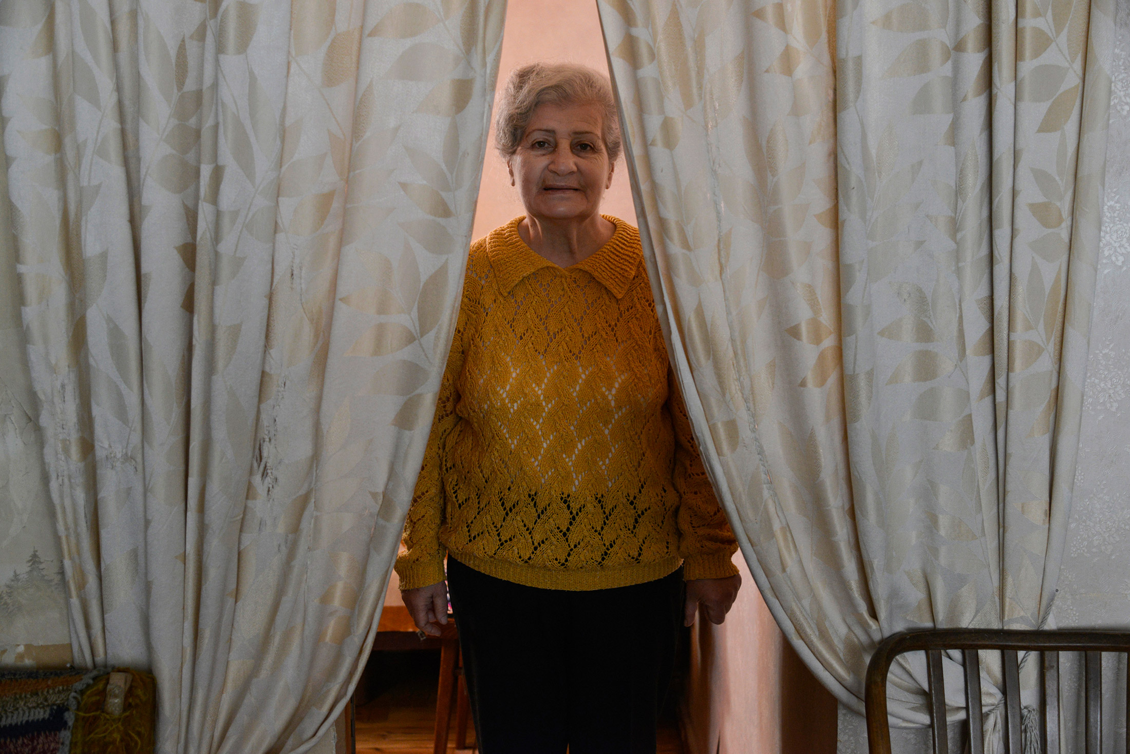 Margo Avetyan, 71, is one of Sveta's 17 clients. The pandemic has made it difficult for both Sveta a ...