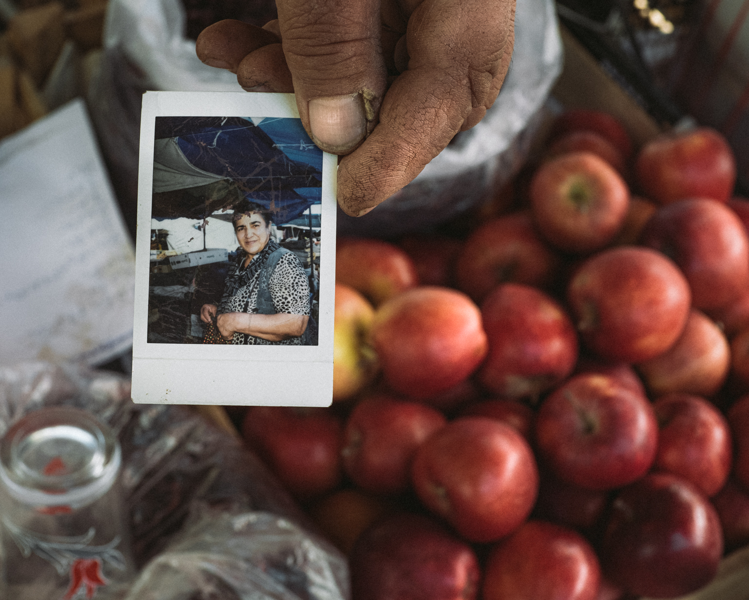 A Polaroid snapshot of Rafiga made by Japanese tourists in 2020. Shaki, 2021